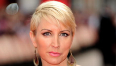 Heather Mills' too-short onesie & thigh-high boots: trashy or classy?