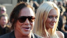 """Mickey Rourke: It's """"not easy"""" to be faithful to 24-year-old girlfriend"""
