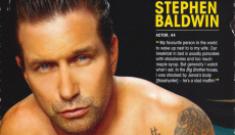 Stephen Baldwin goes semi-nude for Cosmo UK