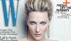 Cate Blanchett styled to look like Tilda Swinton in W Magazine