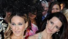 Sarah Jessica Parker's enormous headpiece steals the SATC London premiere