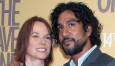Barbara Hershey (62) & Naveen Andrews (41) split
