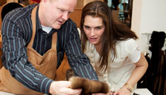 Brooke Shields makes a custom fur coat, enthuses about wearing it all the time