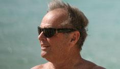 Jack Nicholson on the beach