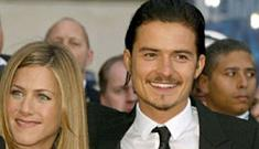 "Those Jennifer Aniston & Orlando Bloom rumors just won't go away"" links"