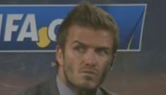 David Beckham's gives epic bitchface at FIFA World Cup