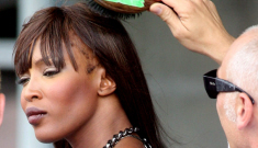 Does Naomi Campbell have a bald spot because of weave glue?