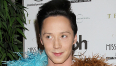 "Johnny Weir: ""I do have a lot of fur. I'm a big fan of fur."""