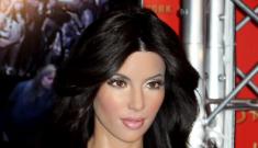 Kim Kardashian's wax figure is cross-eyed!