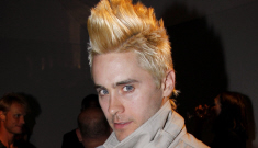 Jared Leto's new platinum blonde Mohawk: sexy or ridiculous?
