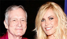 Hugh Hefner loves fake boobs and isn't tired of seeing his 20-something girlfriend naked