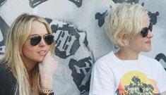 "Samantha Ronson ""practically"" living with BFF Lindsay Lohan"