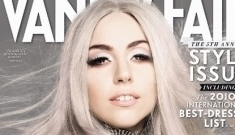 Lady Gaga looks like an angelic drag queen on September's Vanity Fair UK
