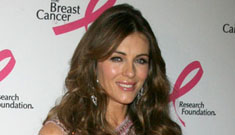 Liz Hurley retouches her own holiday photos, and may be pregnant