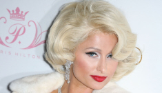 Paris Hilton dresses up like a trashy Marilyn Monroe for her 'Tease' perfume launch