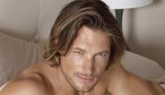 "Gabriel Aubrey's new hot, damp, shirtless ads for ""Charisma"" bedding"