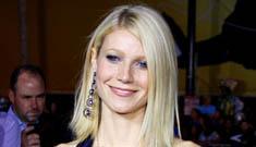 Gwyneth Paltrow wears backless bell bottom vest suit to Ironman premiere