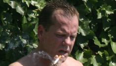 Kiefer Sutherland shirtless: still hot, or kind of gross?