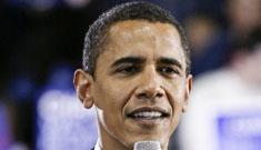 Barack Obama reads the top ten list on David Letterman