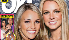New cover of OK! Double   wedding for Britney and    Jamie Lynn