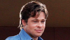 Brad Pitt interviewed by Brian Williams for NBC Nightly  News in NOLA