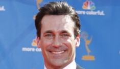 Jon Hamm shakes his groove thing for Betty White at the Emmys
