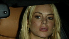 Lindsay Lohan wanders around West Hollywood, looking for attention