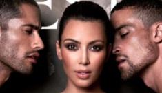 Kim Kardashian's hilarious, waxy, spiky cover for Prestige Mag