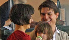 Tom Cruise, Katie Holmes, Connor & Isabella at an LA Galaxy Game