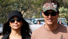 Matthew McConaughey and his pregnant girlfriend, Camila Alves