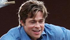 Star: Brad Pitt is boning a French model/stewardess named Racine