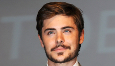 Zac Efron tries a bearded look (not Vanessa), plus other hotties