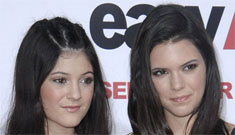 Youngest Kardashian sisters, 13 and 14 yo Kylie and Kendall Jenner, on the red carpet