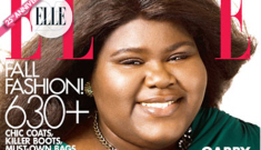 Elle Mag digitally lightened Gabourey Sidibe's skin on   the October cover