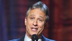 "Jon Stewart laughs at Rick Sanchez's claim that Jon is a ""bigot"""