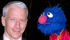 """""""Anderson Cooper chills with Grover"""" links"""