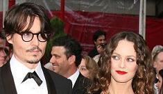 Marion Cotillard flirting with Johnny Depp on set