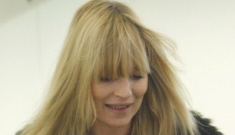 Kate Moss's new flat-ironed bangs/fringe: cute or tragic?