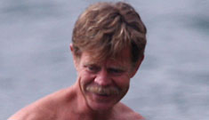 Felicity Huffman and William H Macy on the beach