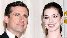 """Anne Hathaway says making out with Steve Carell was like """"the yummiest lollipop"""""""