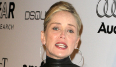 Sharon Stone's leather turtleneck dress: fabulous or trashy?