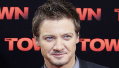 "Jeremy Renner has a crush on Tom Cruise & ""they're always hugging"""
