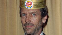 Hugh Laurie gets the ultimate celebrity perk – a Burger King Gold Card