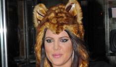 Khloe Kardashian wears an adorable cat hoodie, talks about being bullied