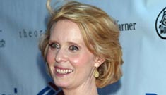 NY Post says Cynthia Nixon got new boobs, but she had cancer & they're same size