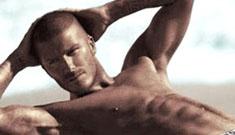 David Beckham in his skivvies again for Armani