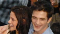 Robert Pattinson & Kristen Stewart have a sparkly kiss while filming in Brazil