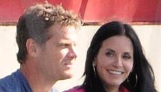 Courteney Cox gets close to her rumored lover, Brian Van Holt