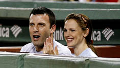 Jennifer Garner and Ben Affleck at the Red Sox game