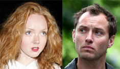 Lily Cole, 20, caught doing walk of shame outside Jude Law's apartment